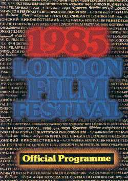 Programme - 29th London Film Festival, 1985