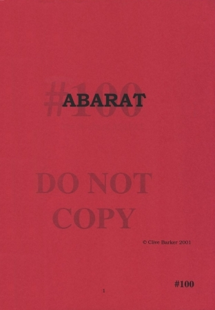 Clive Barker - Abarat - numbered US page proofs