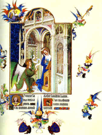Les Très Riches Heures du Duc de Berry - The Annunciation
