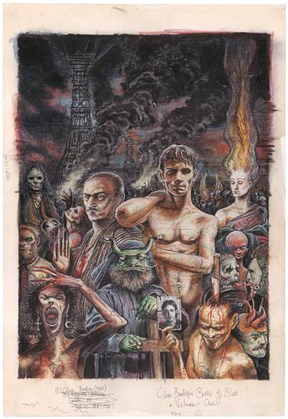 Clive Barker - cover art for The Books of Blood 1