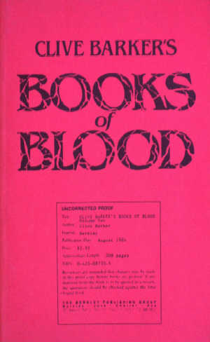Books Of Blood 2, Berkley 1986 proof