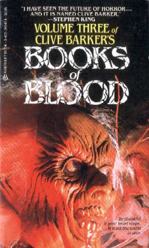 Clive Barker - Books Of Blood 3, Berkley, 1986