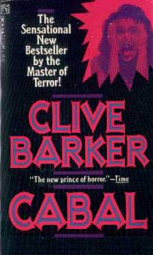 Clive Barker - Cabal - Pocket Books - with 'screaming face' flash