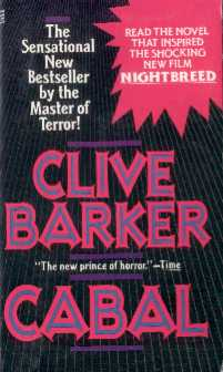 Clive Barker - Cabal - Pocket Books - with 'Nightbreed' flash