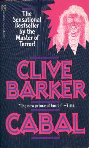 Clive Barker - Cabal - Pocket Books - with 'screaming face in negative' flash