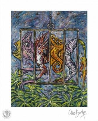 Clive Barker - Cage with Many Creatures print