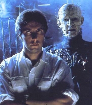 Clive Barker with Doug Bradley as Pinhead