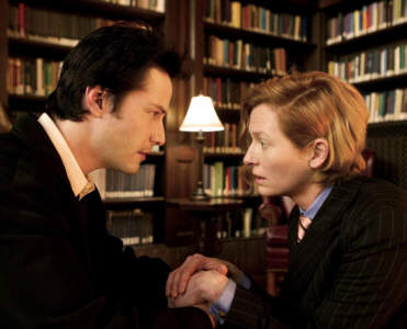Tilda Swinton and Keanu Reeves in Constantine