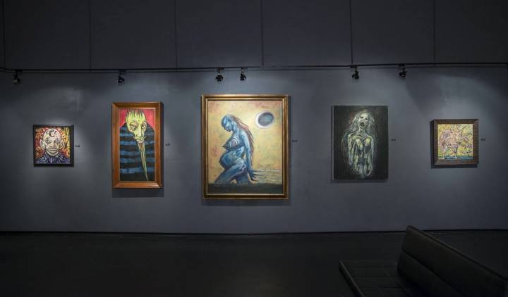 Clive Barker at the Copro Gallery, Santa Monica