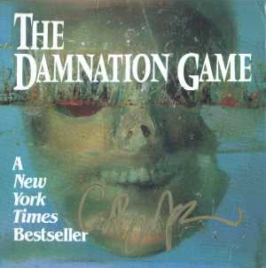 Promotional material for Damnation Game paperback