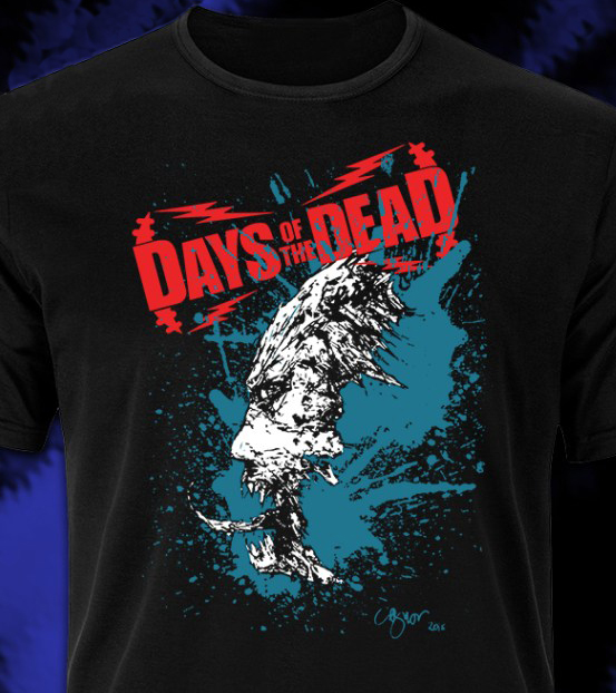 Clive Barker - Days of the Dead  	Atlanta tee