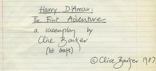 Clive Barker - Harry D'Amour And The Great Beyond