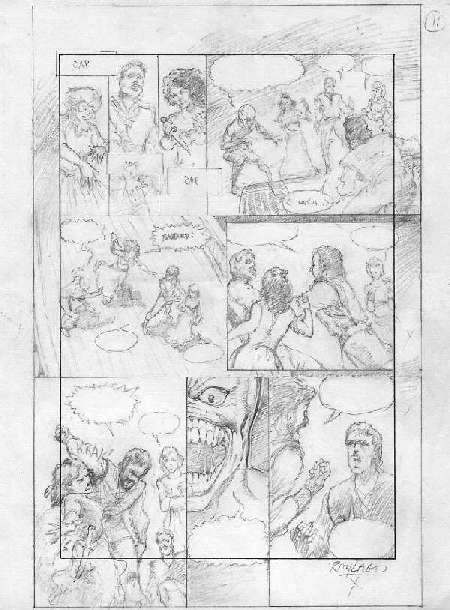 Hellraiser Book 19 Original Pencils