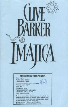 Clive Barker - Imajica - US proof