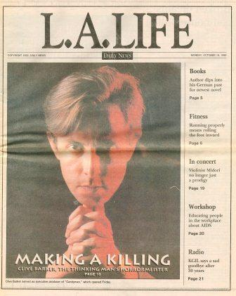 Daily News, Los Angeles, L.A. Life section - 19 October 1992