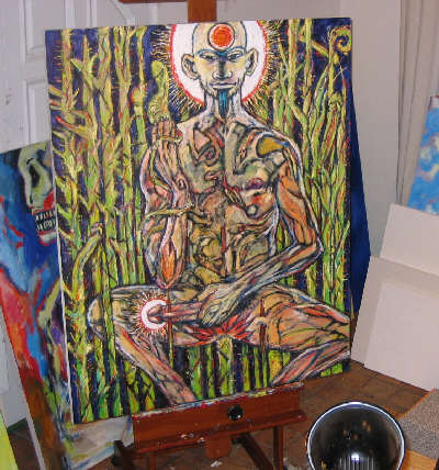 The Martyr in Clive's studio