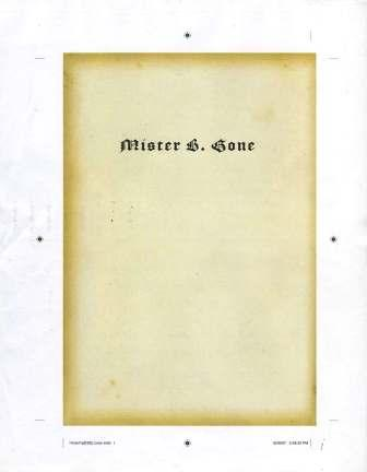 Clive Barker - Mister B. Gone - US loose page proofs