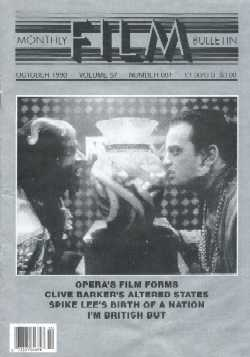Monthly Film Bulletin, October 1990