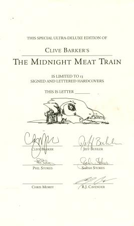 Clive Barker - The Midnight Meat Train, Ultra-deluxe Edition