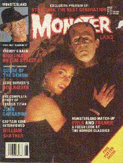 Monsterland, No 17, Fall 1987