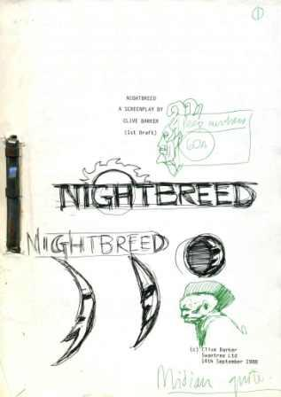 Clive's Nightbreed 1st draft screenplay, 1988