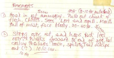 Rory Fellowes's notes on the Barabus rat-eating sequence