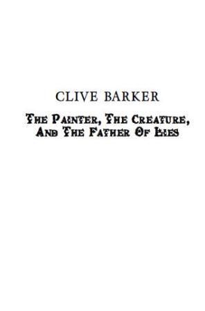 The Painter, The Creature And The Father Of Lies, 2011 US page proofs