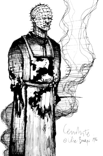 Sketch of Pinhead by Clive Barker, 1986