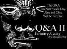 Live Facebook Q&A session, 1 January 2013