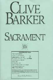 Clive Barker - Sacrament - US Proof