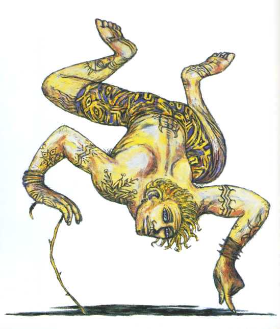 Clive Barker - Tattooed Yellow Acrobat