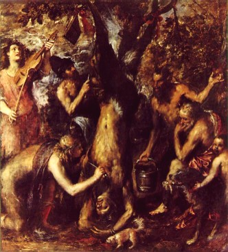 Titian - The Flaying of Marsyas, 1575/6