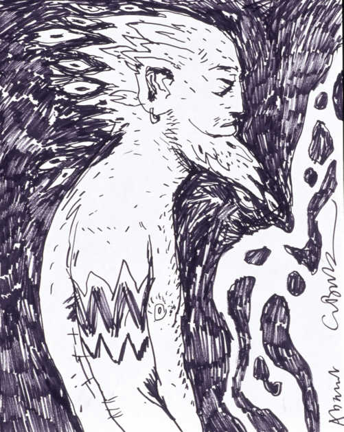 Clive Barker - Untitled Abarat Drawing 134