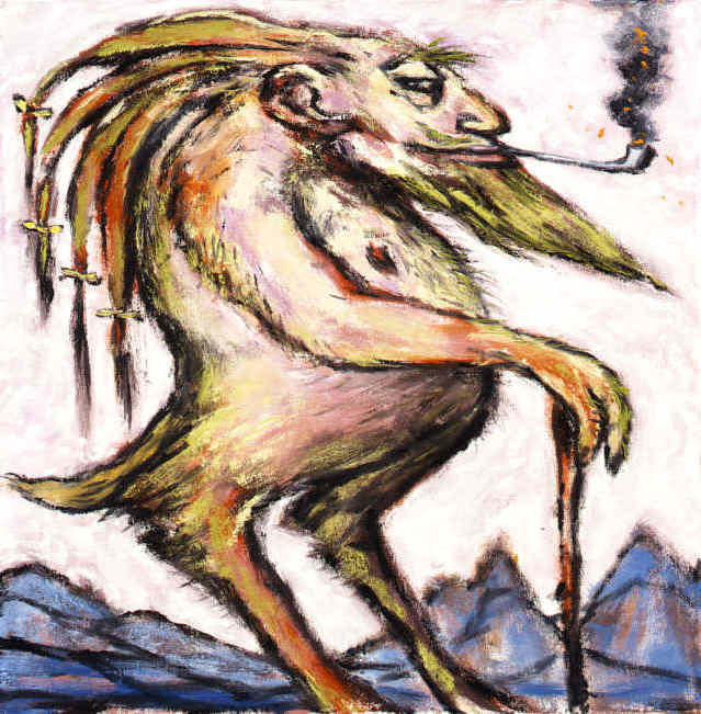 Clive Barker - [untitled Abaratian Pipe-Smoker]