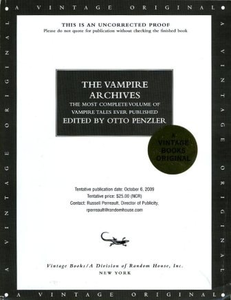 The Vampire Archives - proof