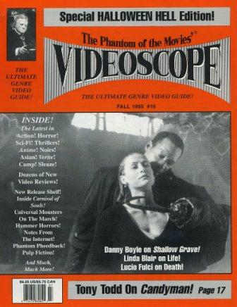 The Phantom Of The Movies' Videoscope - No 16, Fall 1995
